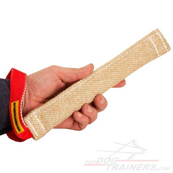 Training Jute Pocket Bite Tug Dog Toy with Handle