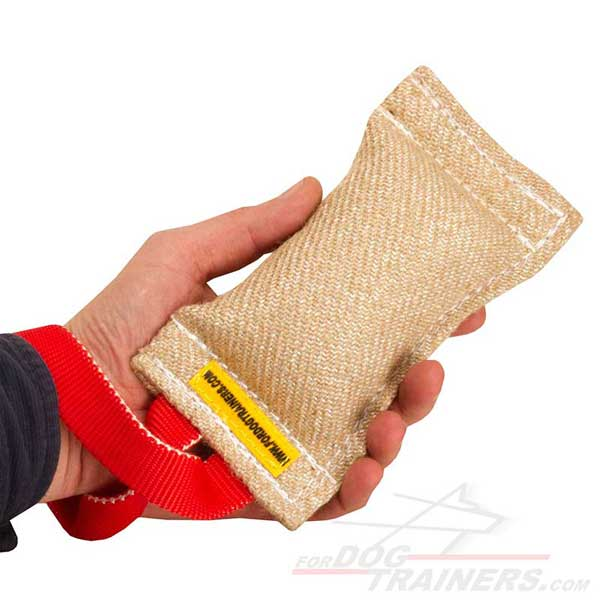 Training Bite Puppy Tag Jute Toy with One Handle