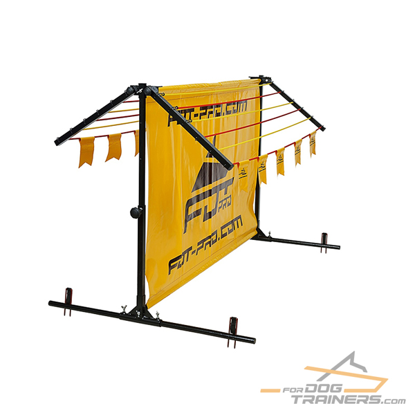 Aluminum/Polyster Barrier For training with Adjustable/ Removable Top