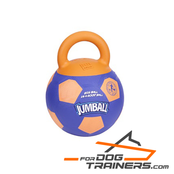 Rubber Dog Basketball Toy with Handle for Challenging Activities