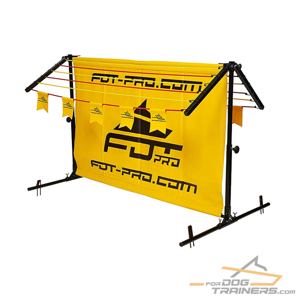 Brand New Aluminum/Polyster Dog Barrier for Long Jump Training