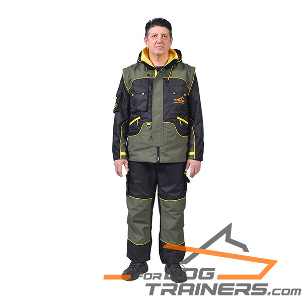 Water and Wind Resistant Dog Training Suit