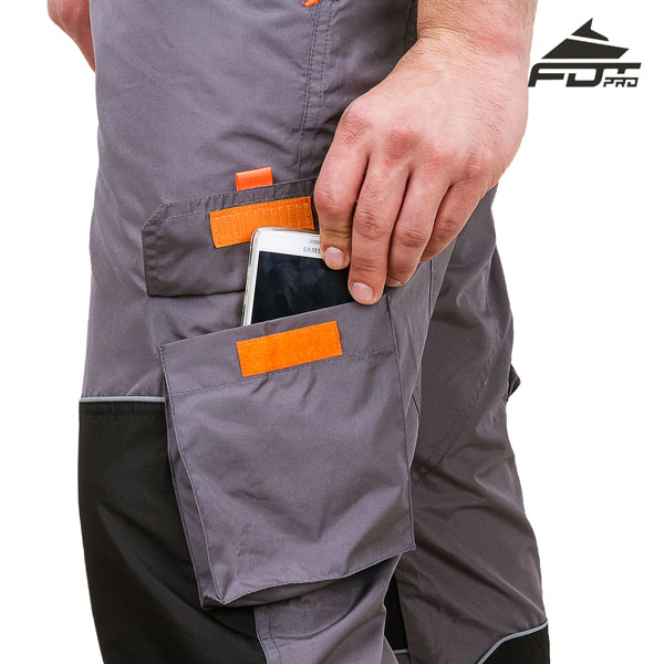 Dog Training Pants with Side Pockets on Velcro