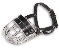 Wire Cage Dog Muzzle with Leather Straps for Everyday Use