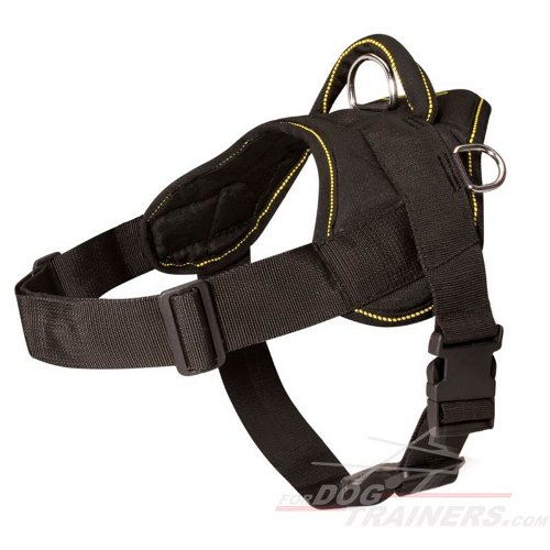 Adjustable Nylon Dog Harness for Pulling, Tracking and Training - Click Image to Close
