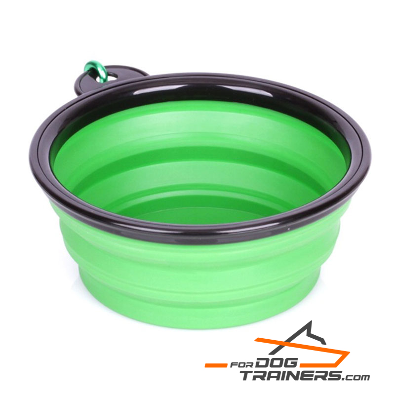 """Green Abyss"" Collapsible Polymer Dog Bowl (Small Size)"