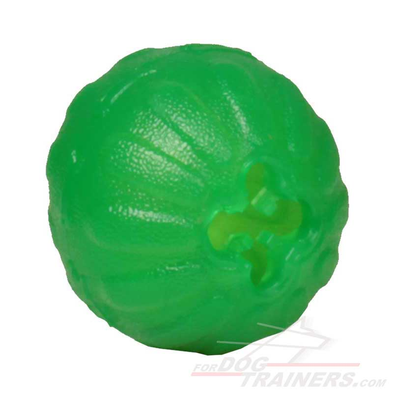 """Mental Stimulator"" Dog Toy Treat Dispenser - Chew Dog Ball for Small Breeds - Click Image to Close"
