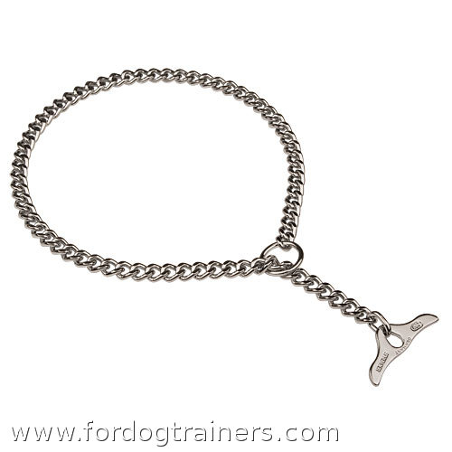 Choke dog metal  collar with toggle