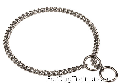 Herm Sprenger Chrome Plated Choke Chain Dog Collar of German Quality - Click Image to Close