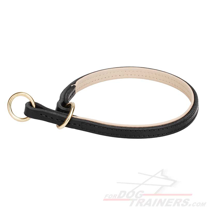 Strong Leather Dog Choke Collar for Quality Control over Your Pet - Click Image to Close
