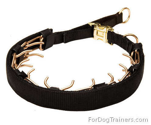 Curogan Prong Collar with Nylon Protector