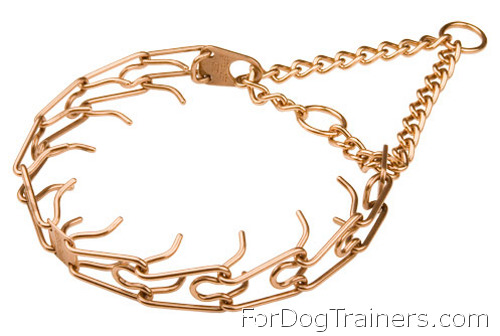 Curogan Dog Pinch Collar is made of the best alloys