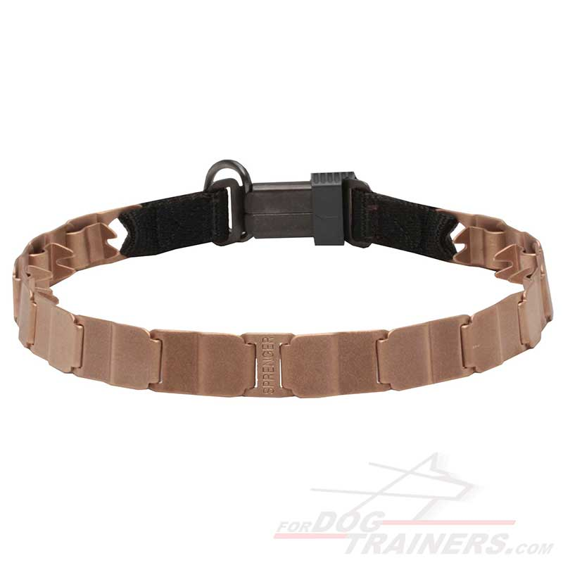 'Master' Neck Tech Curogan Prong Dog Collar with Click Lock Buckle - Click Image to Close