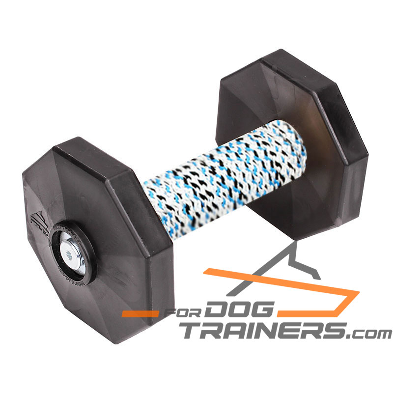 'Safe Training' Retrieve Dog Dumbbell with Removable Weight Plates (650 g) - Click Image to Close
