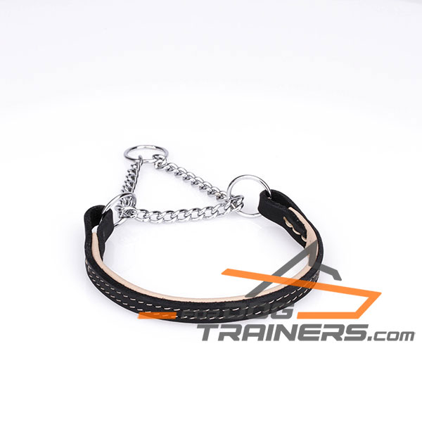 get strong leather collar for dog