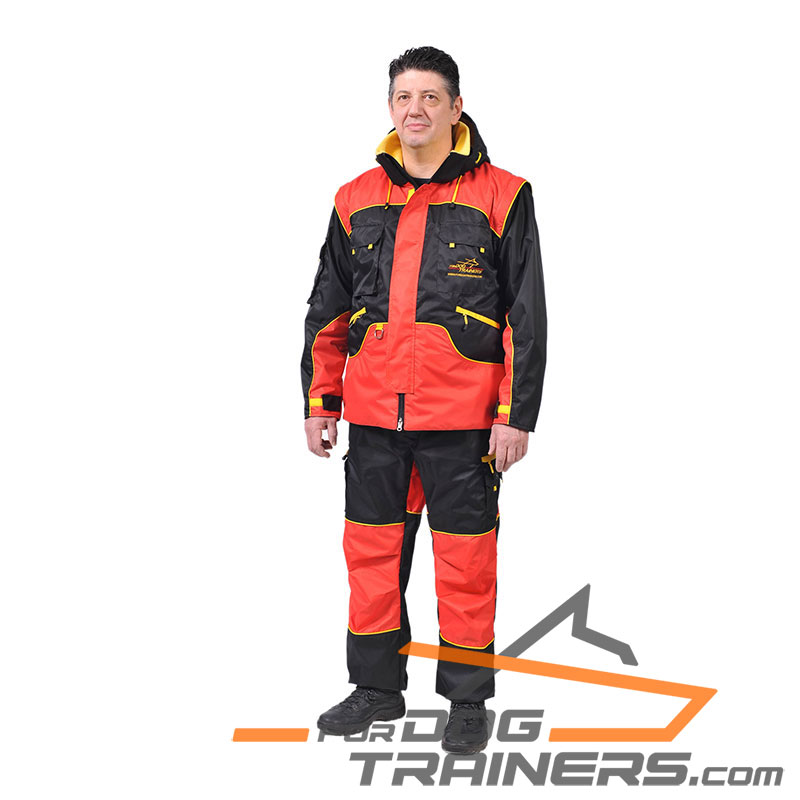Dog Training Suit of Membrane Fabric - Click Image to Close