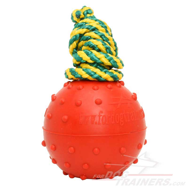 Solid Rubber Dog Ball Water Toy - Medium Size - Click Image to Close