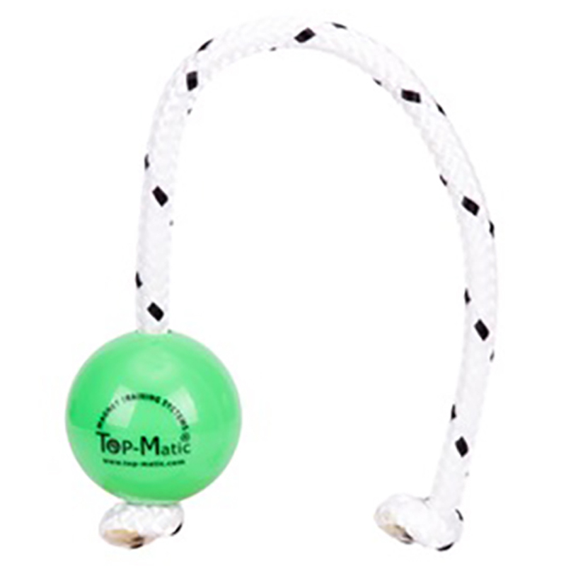 """Favorite Toy"" Green Plastic Dog Ball with a Magnet Inside - 2 1/3 Inches Diameter - Click Image to Close"