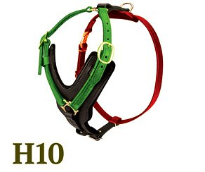 H10 - Leather Dog Harness Sizing Diagram