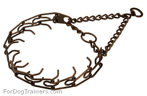 HS Pinch Dog Collar made of Steel Antique Copper  Plated