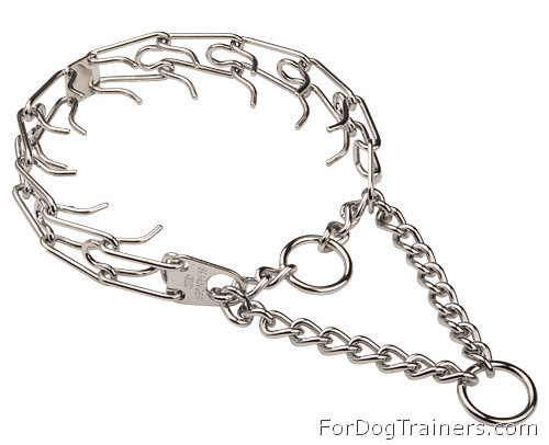 HS Pinch Dog Collar Chromium Plated