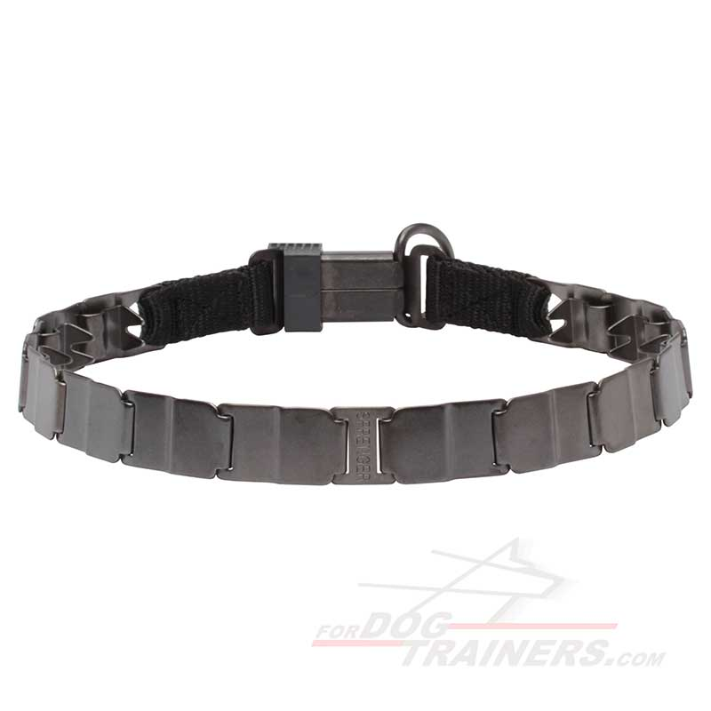 'Strength 'n' Power' Neck Tech Sport Prong Collar of Stainless Steel Matt - 50050 (66) - Click Image to Close