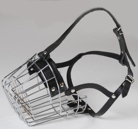 Extra small metal basket dog muzzle for walking and dog training
