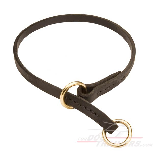 Choke leather dog