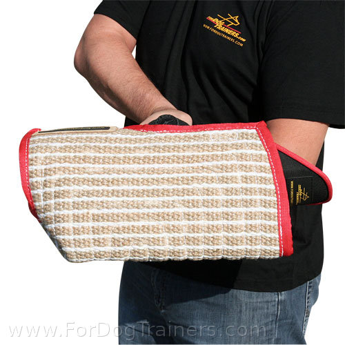 New short dog bite sleeve with jute cover