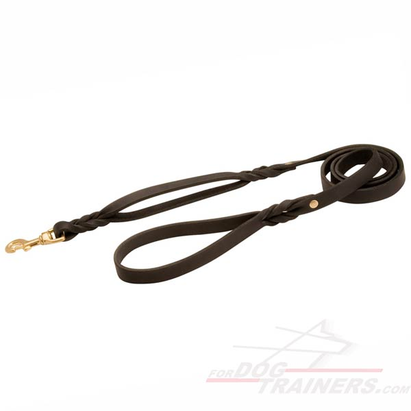 Soft and strong leather leash
