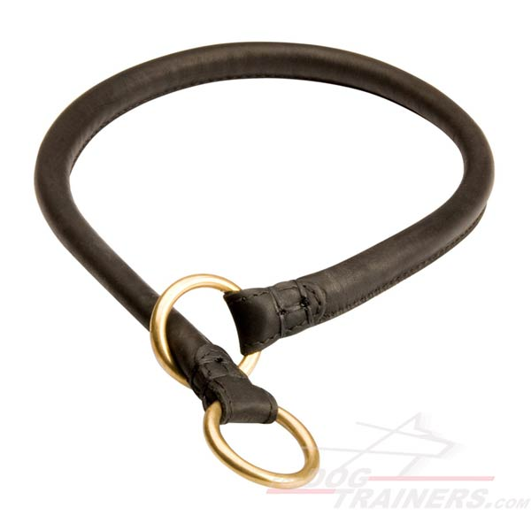 Silent Leather Choke Collar