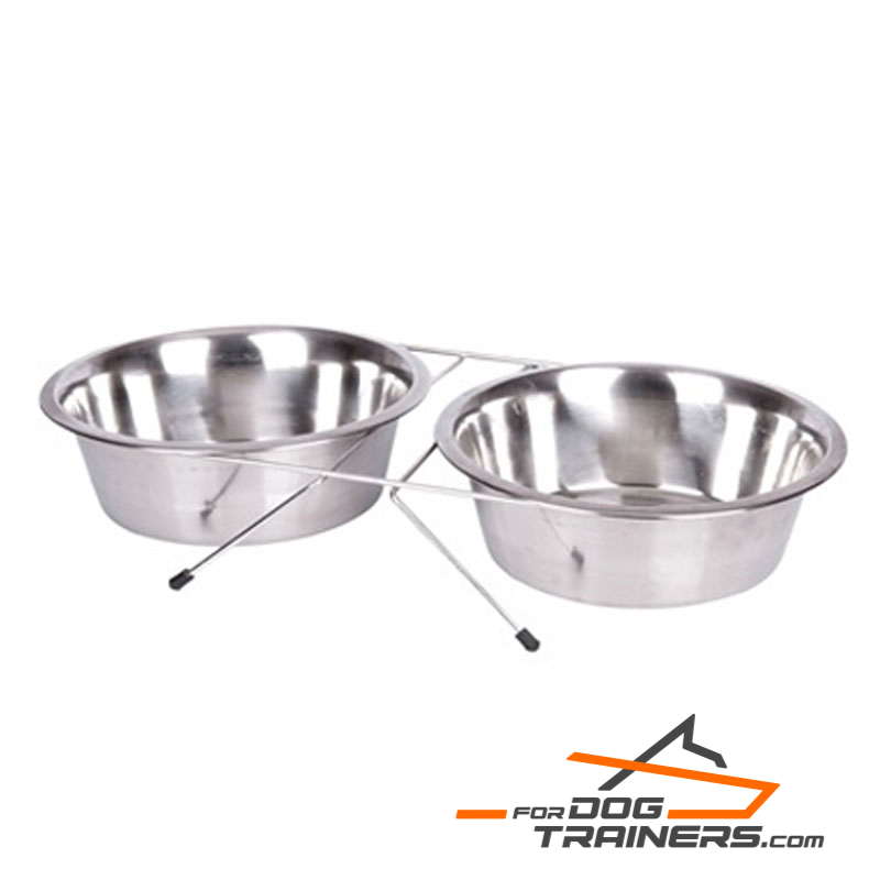 Durable Stainless Steel Bowls with Stand