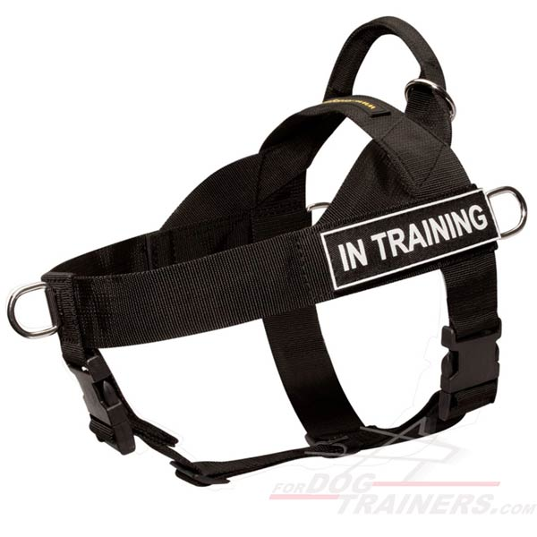 Super Light Nylon Canine Harness for Police Service