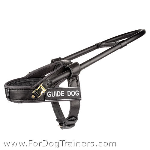 guide dog harness with removable handle