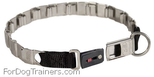 fun stainless steel new herm sprenger collar with open buckle