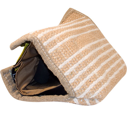 intermediate bite sleeve for dog training - removable jute cover