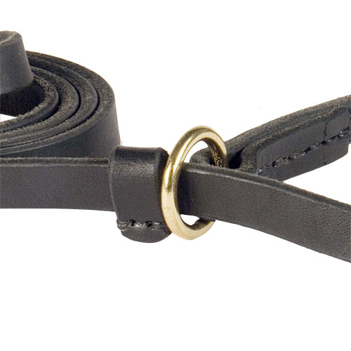 choke collar leash leather stopper