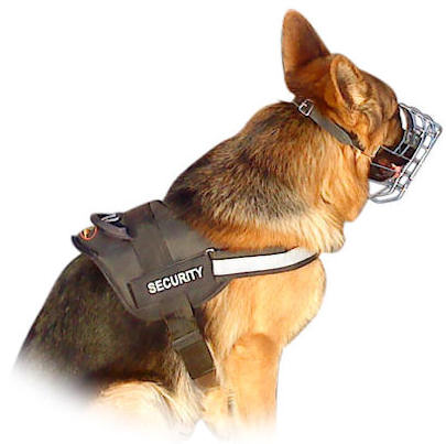 Reflective nylon dog harness for all breeds with handle