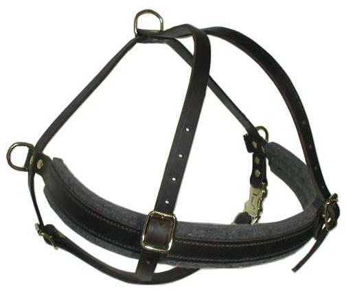 Tacking / Pillinig dog harness for Akita Inu or Siberian Husky