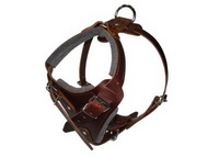 Padded Leather Dog Harness for Attack Training and Walking Large/Medium Breed Dogs [H1###1073 Leather Attack Training Dog Harness]