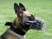 Basket wire dog muzzle perfect for Malinois M90