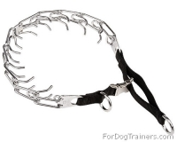 Dog Pinch Collar with Nylon Loop and Quick Release Buckle - 1/8 inch (3.25mm)