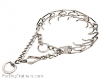 Chrome PLated Pinch Dog Collar for Obedience Training - Herm Sprenger Collar