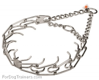 Herm Sprenger Dog Pinch Collar 1/8 inch (3.25 mm) for Behavior Correction