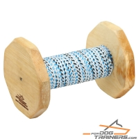 'Firm Grip' Schutzhund Training Dumbbell with French Linen Cover 400g