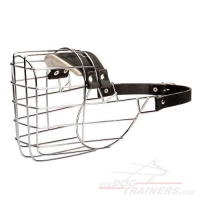Adjustable Wire Cage Dog Muzzle for Everyday Walking and Training