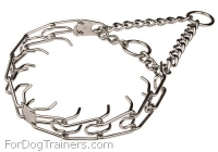 Herm Spreger Chrome-plated Dog Pinch Collar - 1/6 inch (3.99 mm)