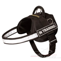 Nylon Dog Harness with Reflective Strap for Training, Walking, Police Service, SAR and More