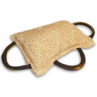 Dog bite pad made of jute with 3 handles - TE7