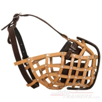 Police Style Leather Basket Muzzle for Training